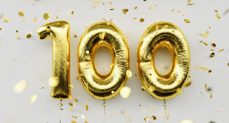 100 years balloons