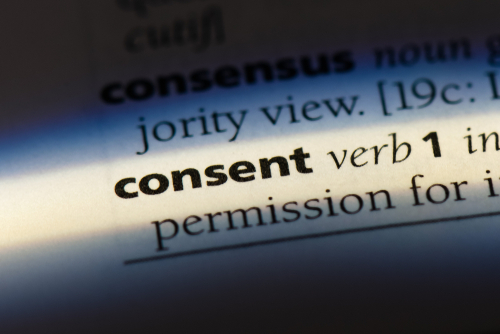 consent defined in a dictionary