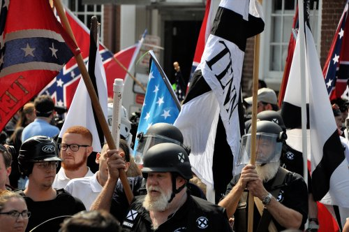 Right-wing extremists protest in Charlottesville