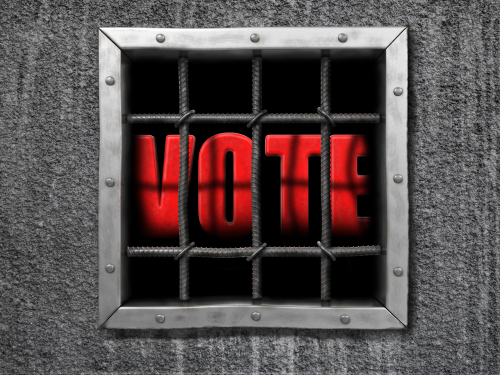 felon voting behind bars concept