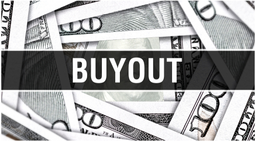 buyout concept with money