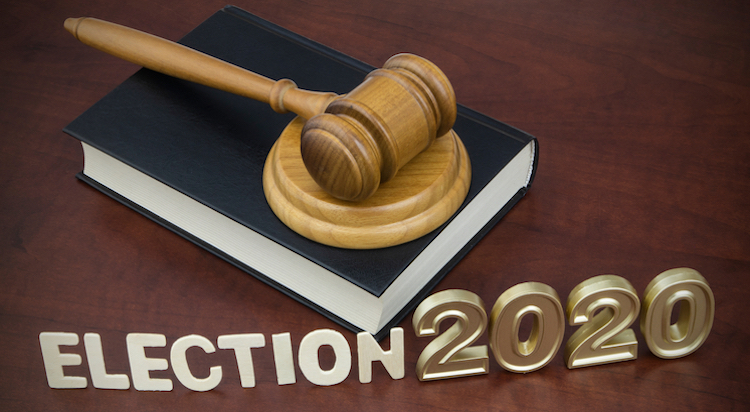 gavel and election words