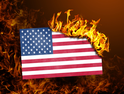 flag burning and fire