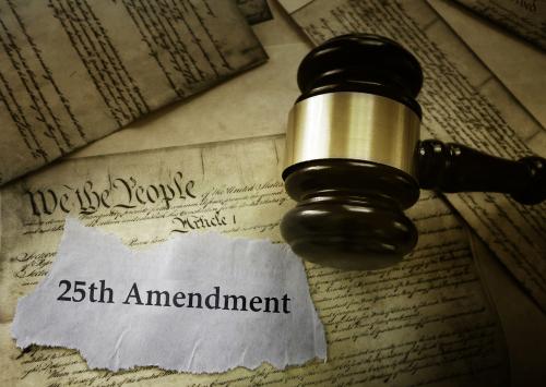 25th amendment and gavel
