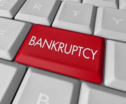 bankruptcy keyboard image