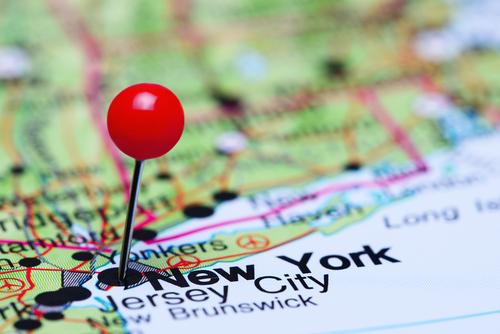 NYC pin map