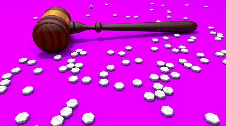 gavel and abortion meds