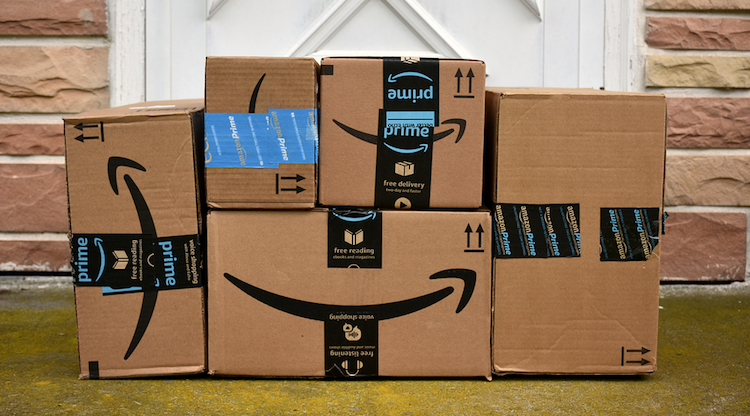 Amazon stack of boxes