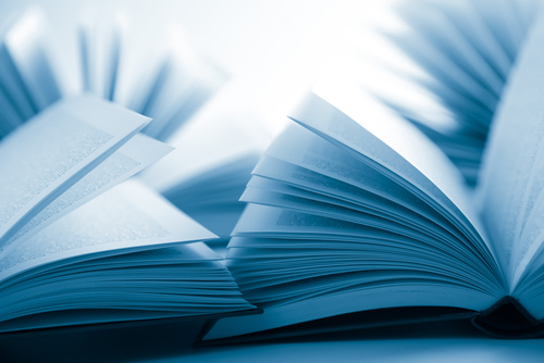 blue laws concept with books