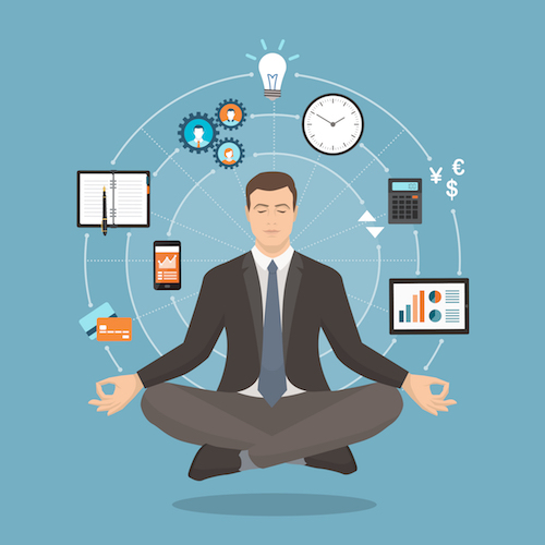 businessman mindfulness concept