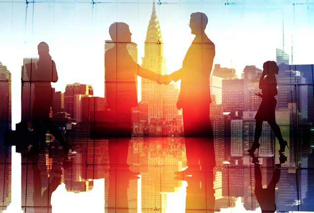 businesspeople handshaking concept