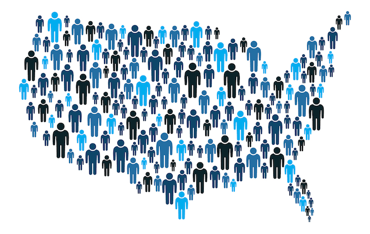 shutterstock_census concept US map of people