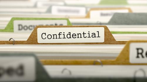 shutterstock_confidential documents folder