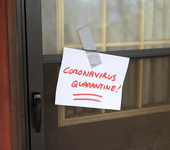 coronavirus quarantine note