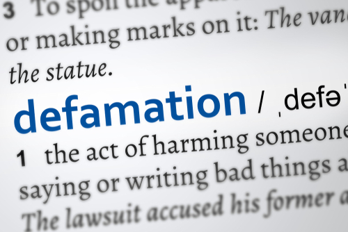 defamation words dictionary
