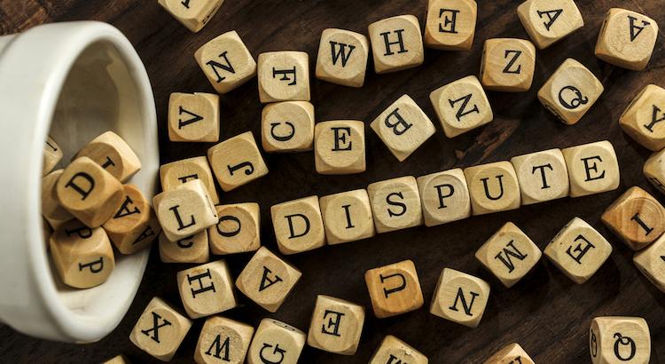 dispute words concept