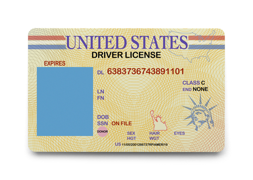 shutterstock_drivers license