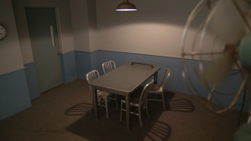 empty interrogation room
