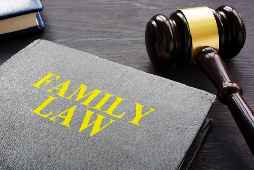 gavel and family law words