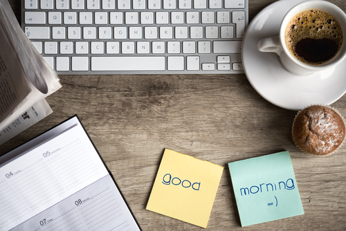 What are your everyday morning work habits?