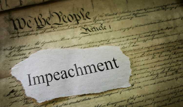 impeachment headline over Constitution