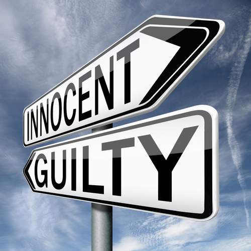 innocent and guilty signs