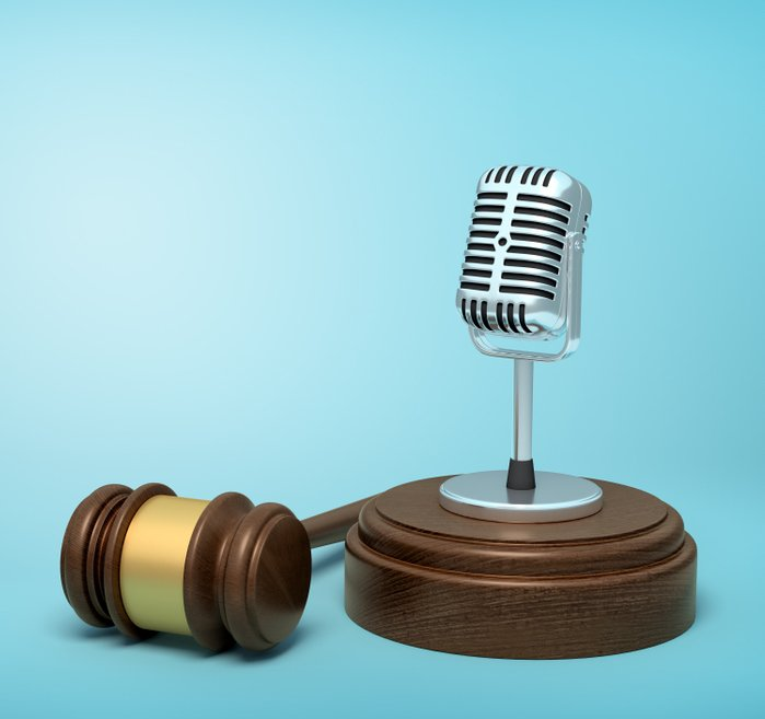 microphone and gavel