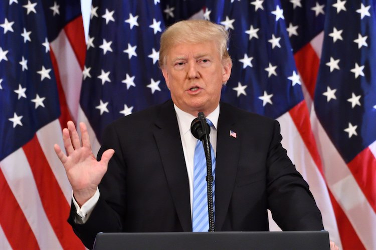 Donald Trump in September 2018 at UN General Assembly