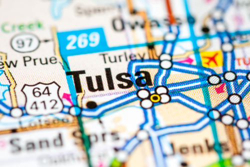 tulsa on map