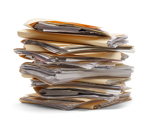 stack of file folders