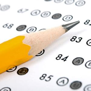 Standardized test bubbles with pencil
