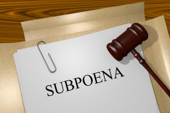 subpoena documents and gavel