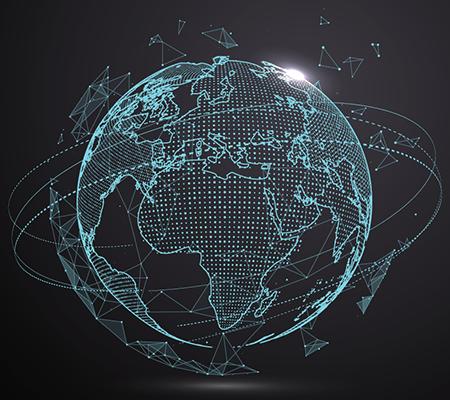 A futuristic globe