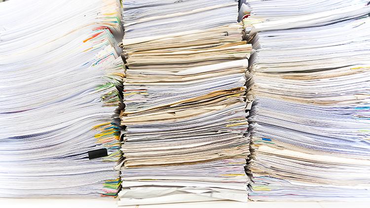 huge stacks of files