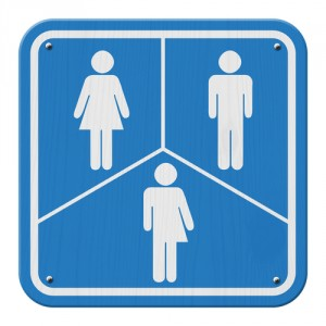 Transgender bathroom sign.