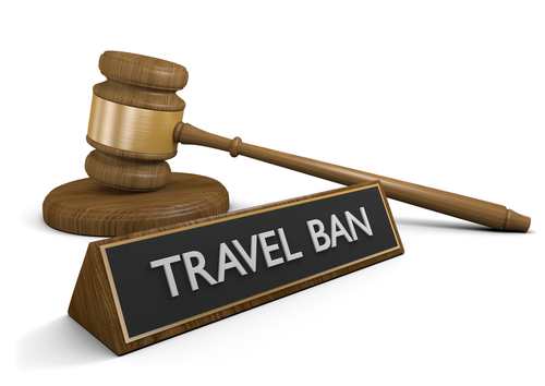 travel ban words and gavel