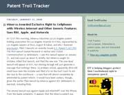 Patent Troll Tracker