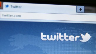 Twitter on computer