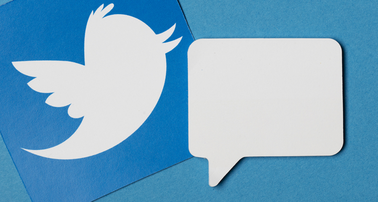 twitter icon and speech bubble.