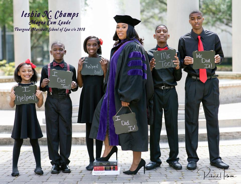 1e8fe5b9c66 Onetime high school dropout and single mom celebrates her law school  graduation in viral photo