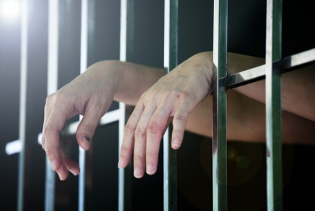 woman hands jail