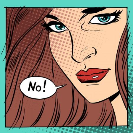 woman say no