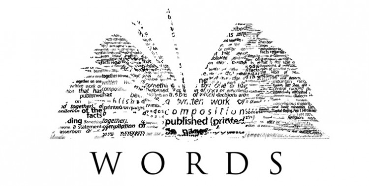 words collage