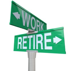 work and retire signs