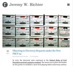 Jeremy Richter blog.